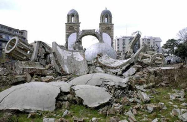 destruction in Kosovo