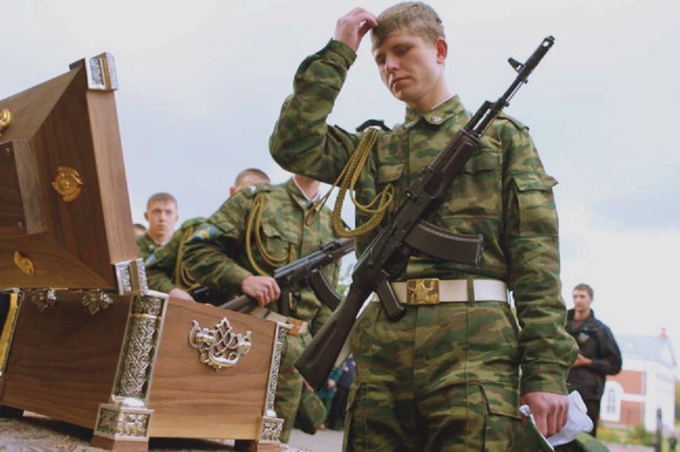 russian soldier relics of st aleksandr nevsky
