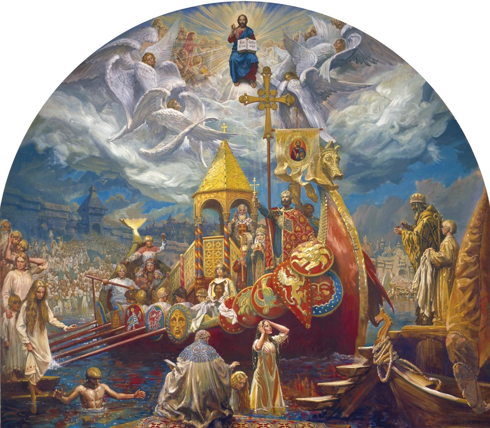 00 Mikhail Shankov. Baptism of Russia. 2003