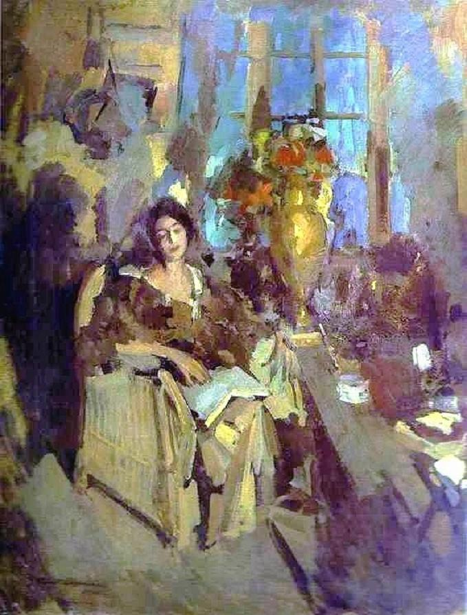 Konstantin Korovin. A Portrait of a Woman. 1912