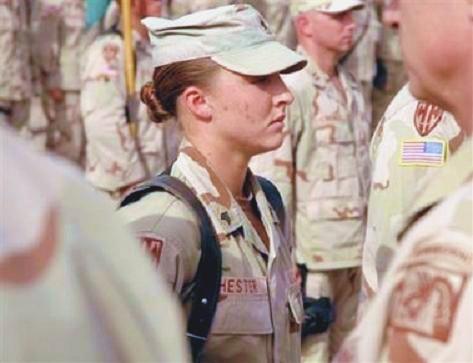 American female in Iraq