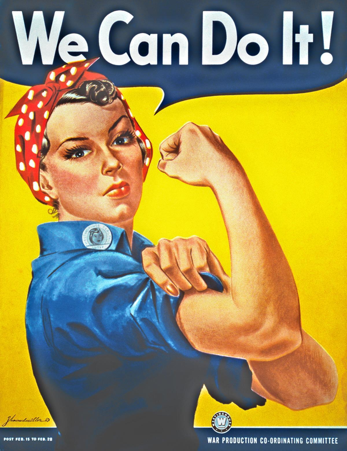 we can do it rosie the riveter us wwii poster voices from russia. Black Bedroom Furniture Sets. Home Design Ideas