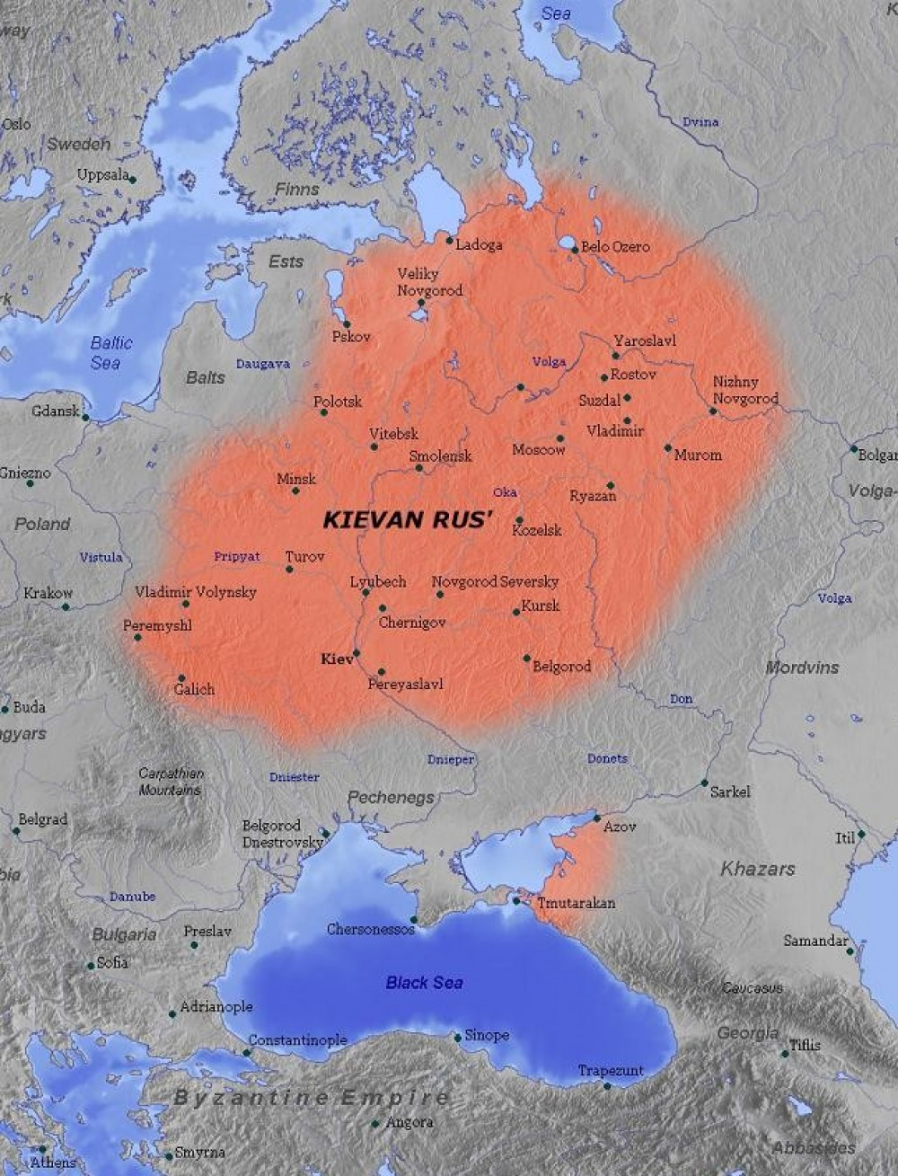 A Map Of Kievan Rus In The Eleventh Century Voices From Russia - R us map
