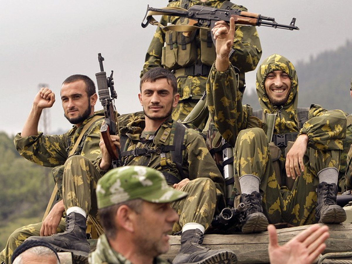 00 Chechen fighters 2008 S Ossetia