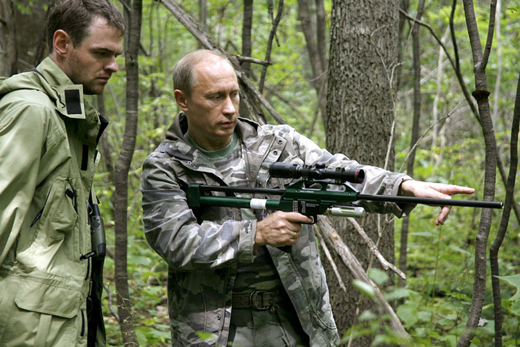 Prime Minister Vladimir Putin  1952-    RF President 2000-08  with the    Vladimir Putin Hunting Tiger