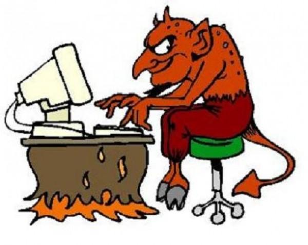 satan at the computer