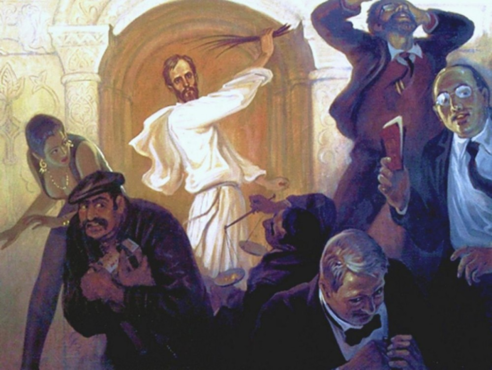 Boris Olshansky. Jesus and the Money-Changers. 2006