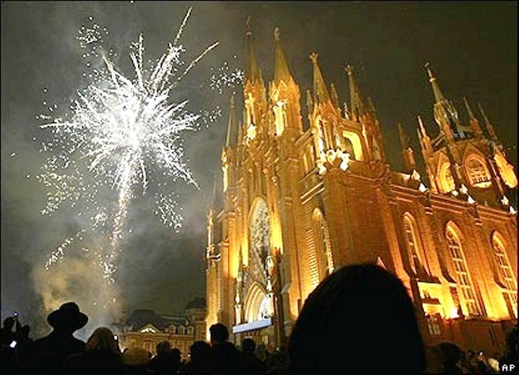 fireworks christmas moscow immaculate conception