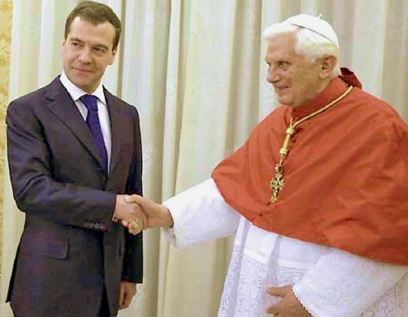 medvedev and pope