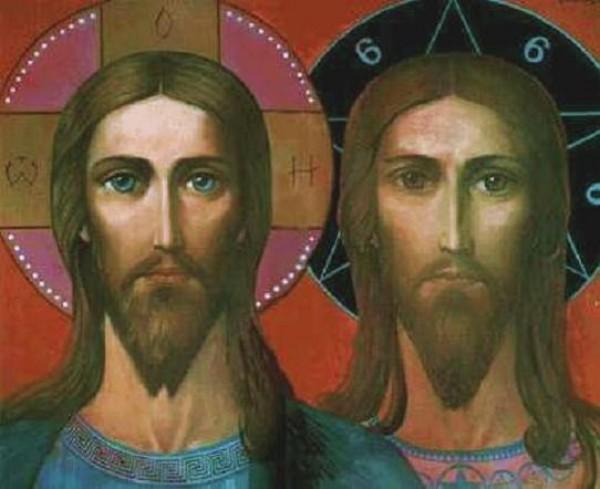 Ilya Glazunov. Christ and Anti-Christ. 1999