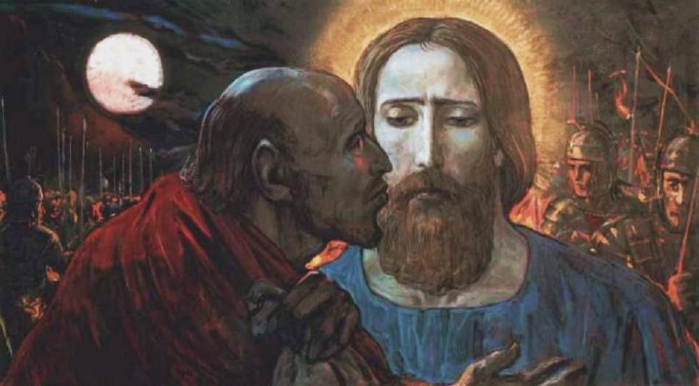 Ilya Glazunov. The Kiss of Judas. 1985