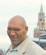 Nikolai Valuev in Red Square