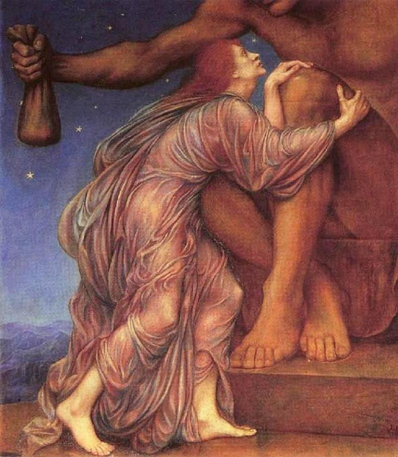 Evelyn de Morgan. The Worship of Mammon. 1909