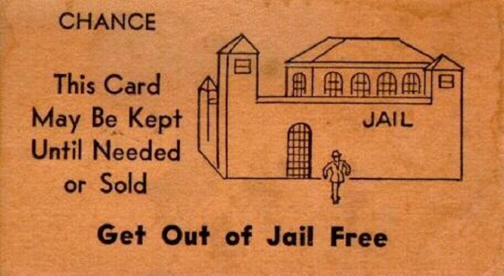 Pin monopoly cards print on pinterest for Get out of jail free card template