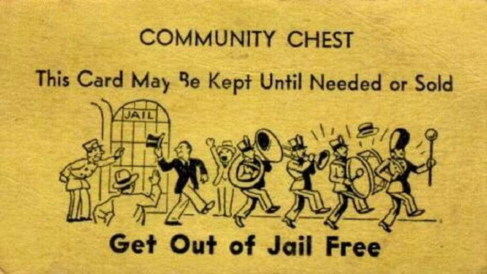get out of jail free community chest
