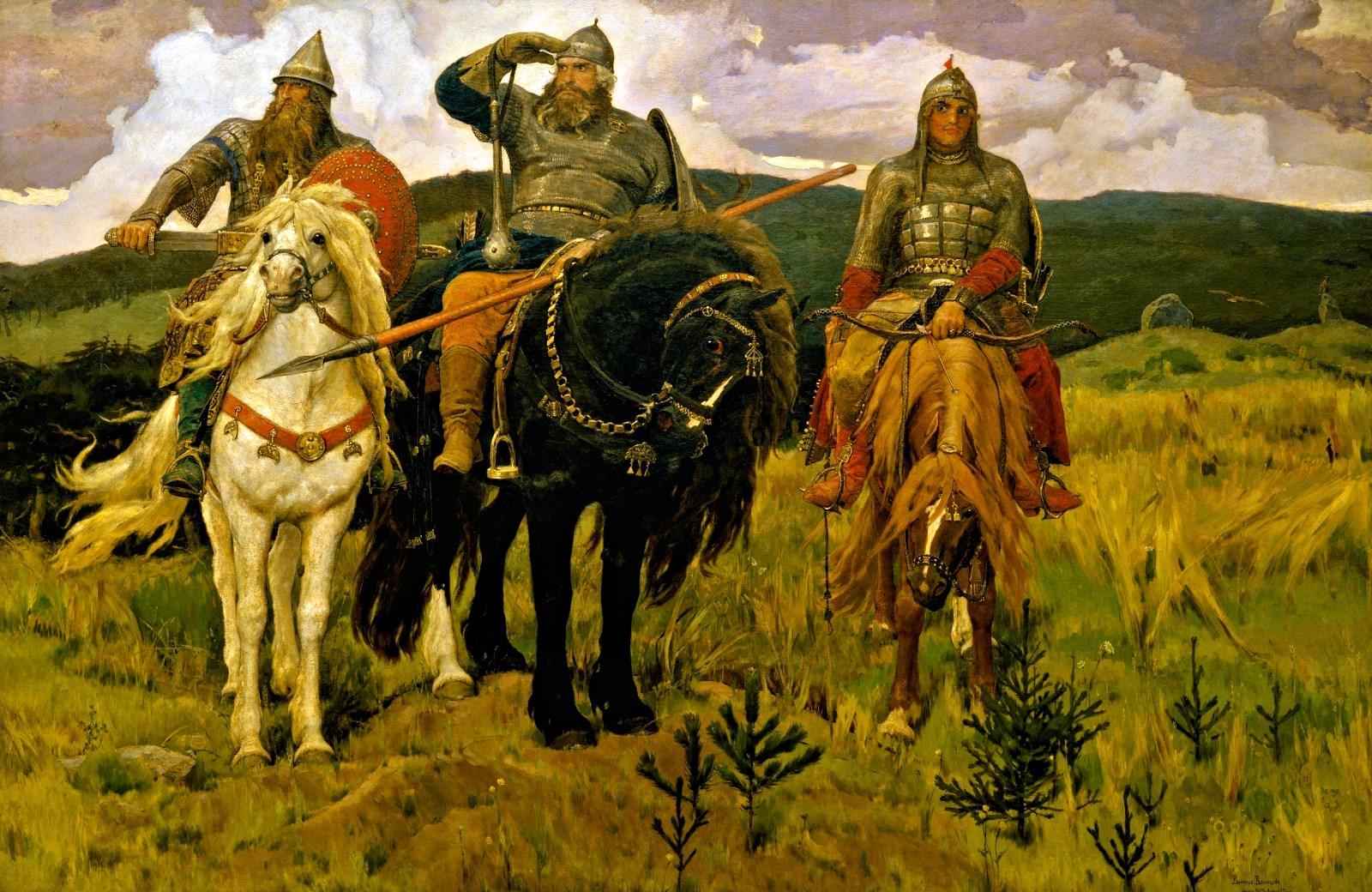00 Viktor Vasnetsov. Three Bogatyrs. 1898.
