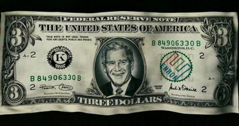 01 three dollar bill g w bush voices from russia