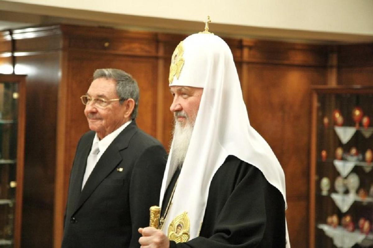 04 Raul Castro with Patriarch Kirill