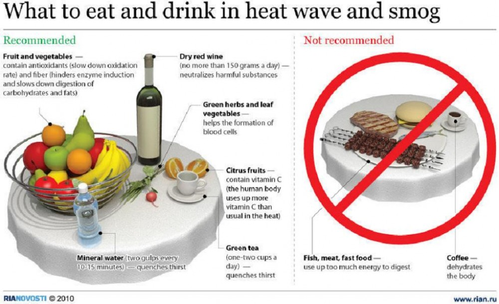 Formation Cuisine Vegan   Ria Novosti Infographic What To Eat In Heat Wave And Smog Voices