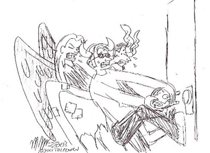 01 Angel Devils Tussling for Soul