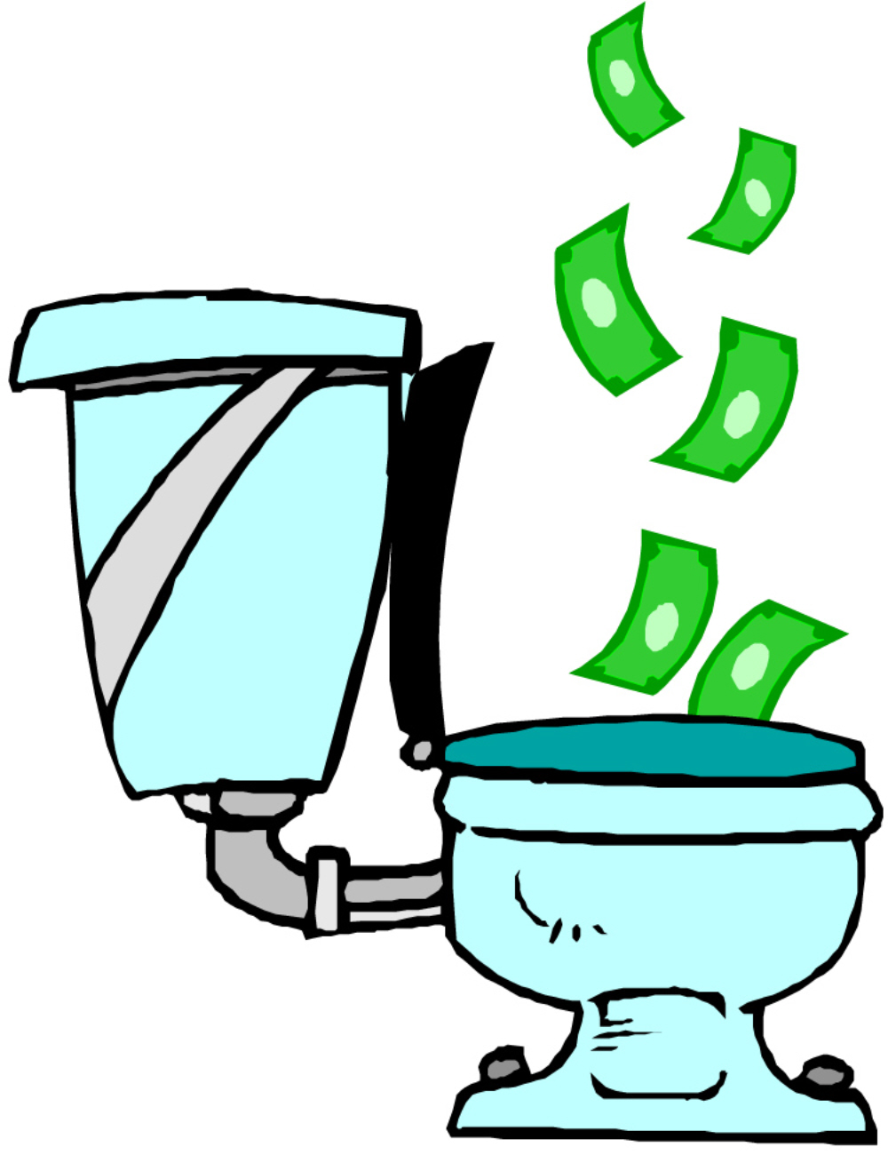 01 money down toilet