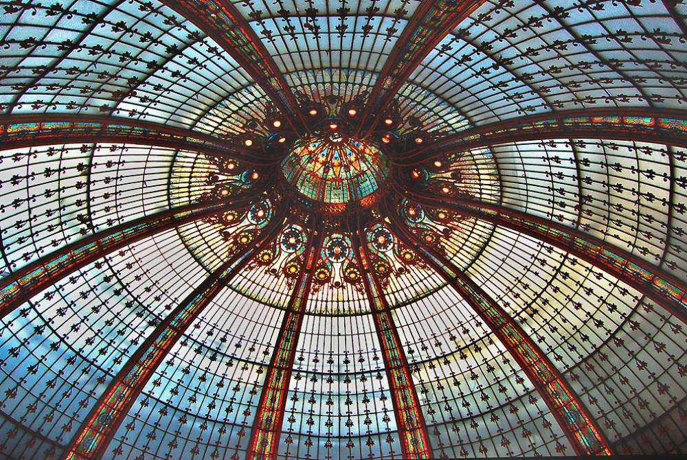 01m stained glass dome of galeries lafayette paris voices from russia - Galerie street art paris ...