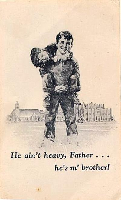 he aint heavy hes my brother Lyrics and video for the song he ain't heavy, he's my brother by the hollies.