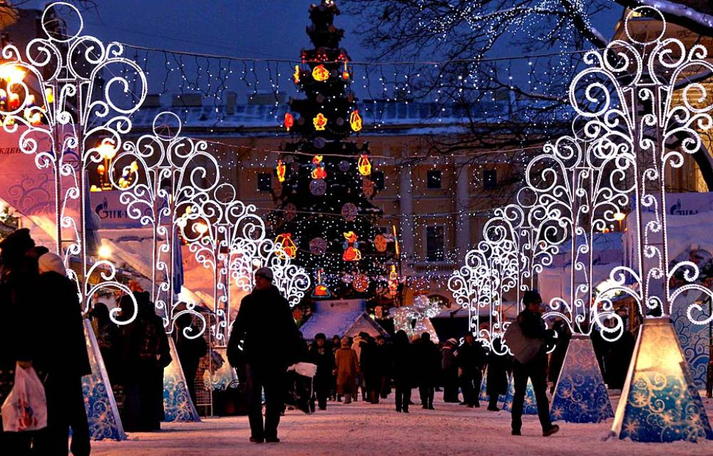 four days to western christmas orthodox people have 17 days to our feast 01 xmas in st petersburg - Russia Christmas