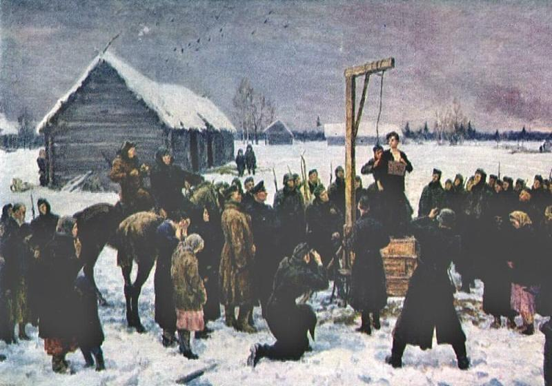 Kukryniksy. Tanya. Zoya Kosmodemyanskaya's Feat. 1942