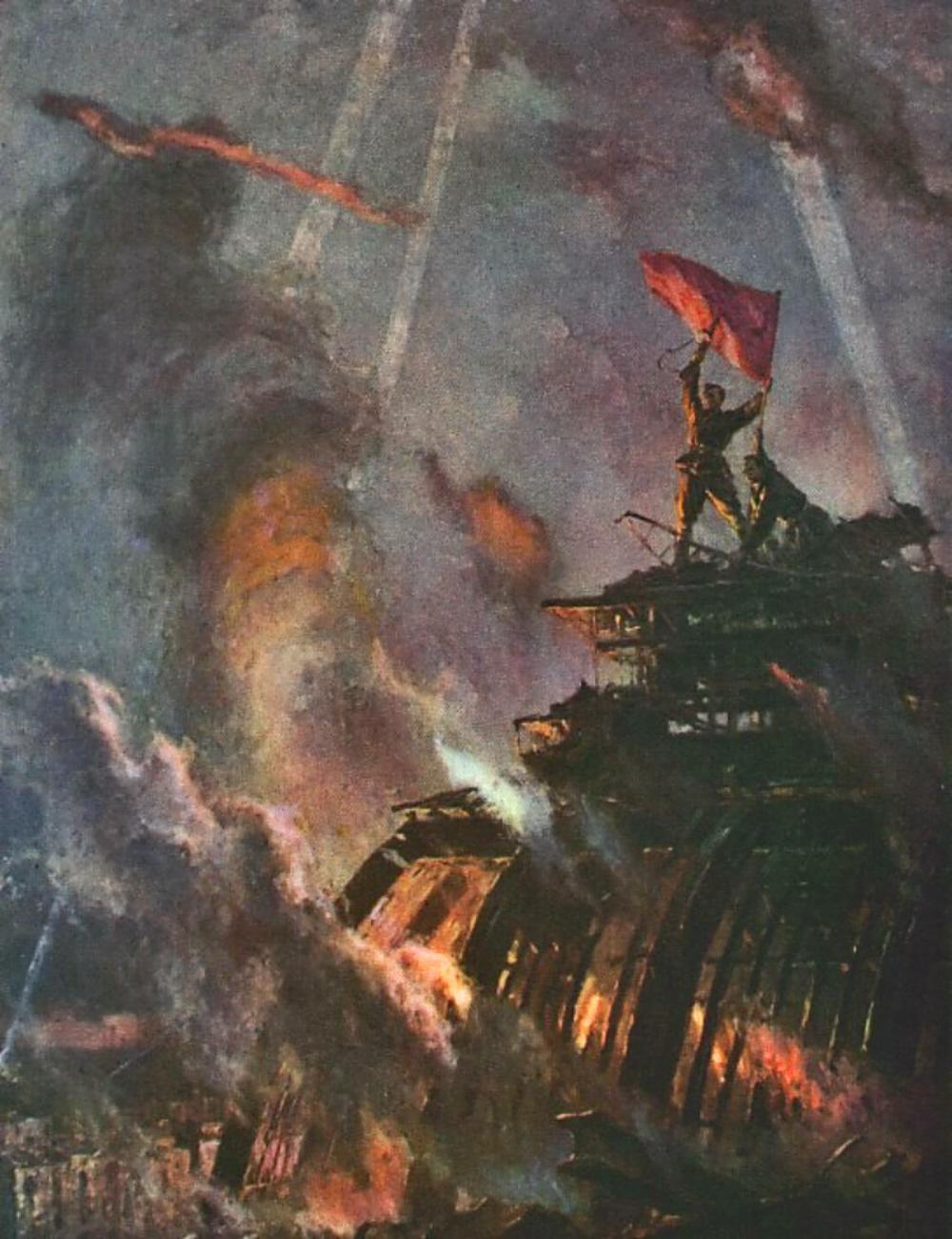 V Bozhko. Raising the Victory Banner Over Berlin. nd
