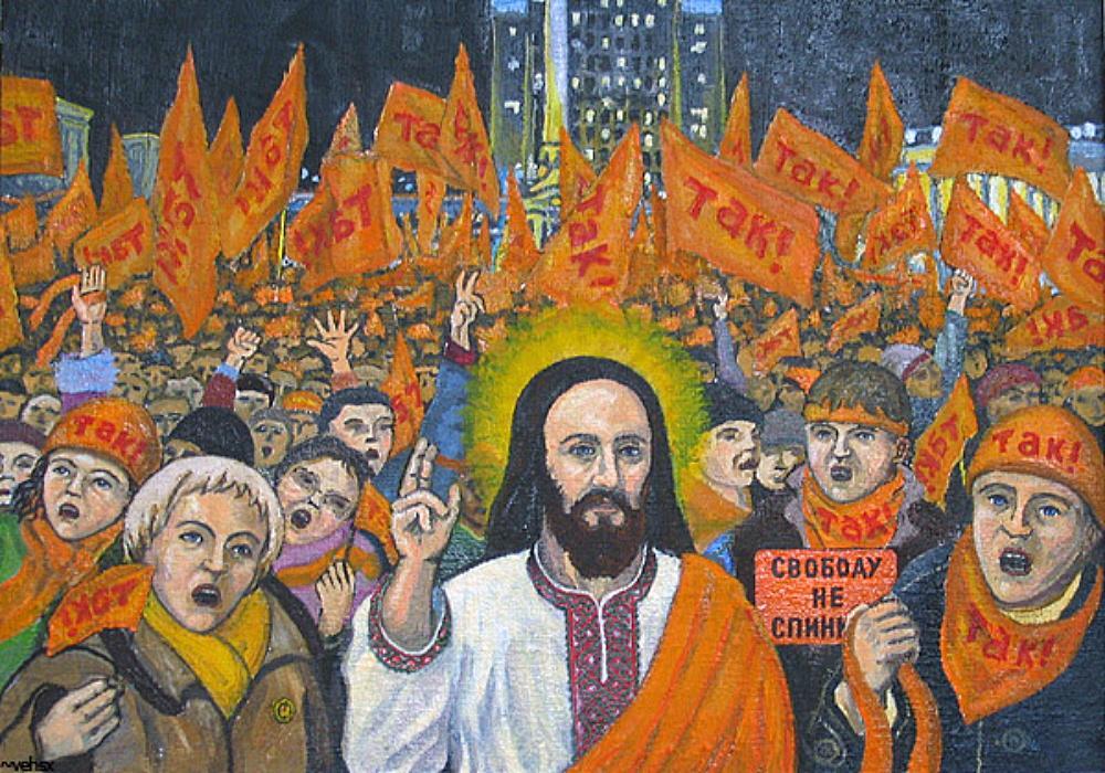 01 blasphemous Yushchenko icon