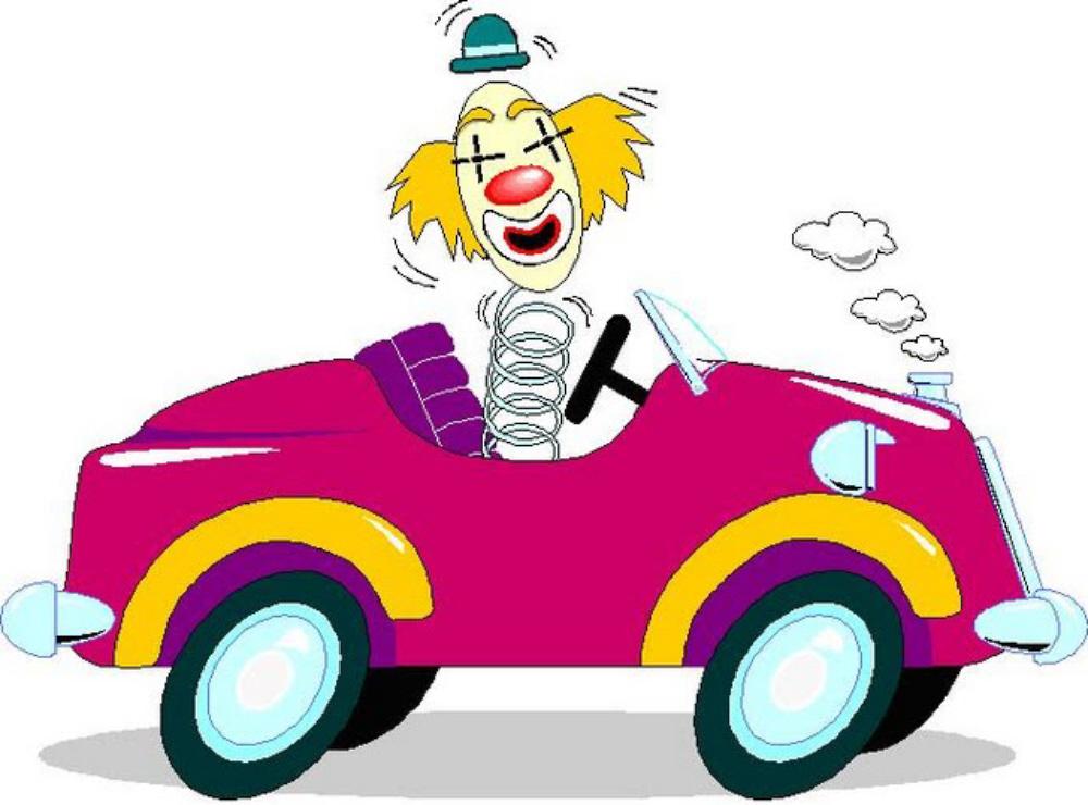 01 Clown behind the wheel
