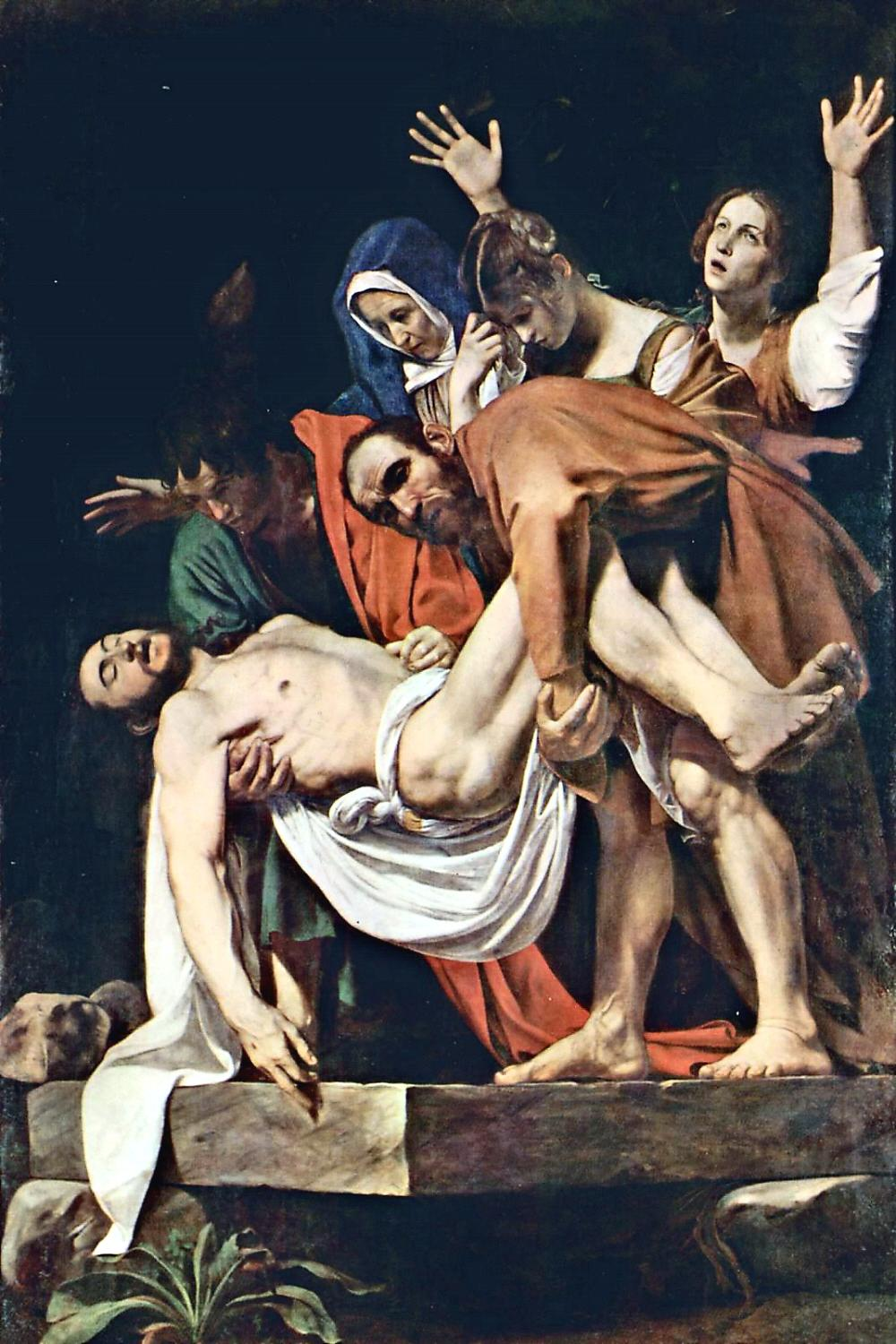 01 Michelangelo Merisi da Caravaggio. The Entombment of Christ. 1602-03