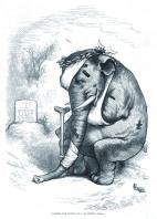 01 Harper's Weekly 24.3.77. GOP Elephant. Thomas Nast. Another Such Victory and I Am Undone