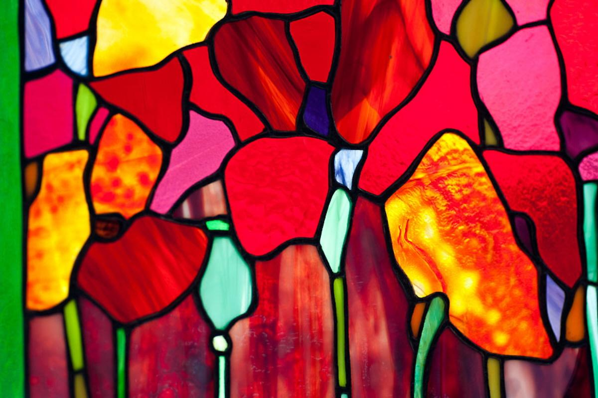 Red Stained Glass : The gallery for gt stained glass window cross