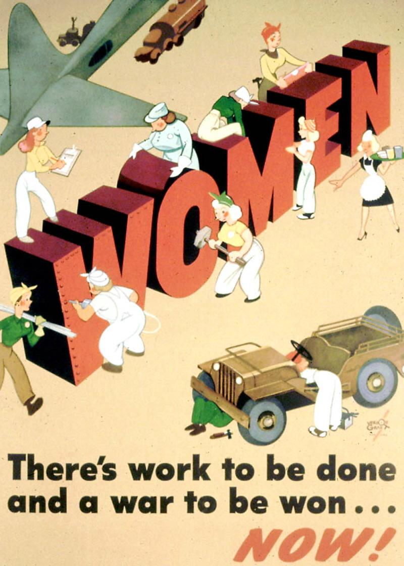 01 Women working poster US WWII | Voices from Russia
