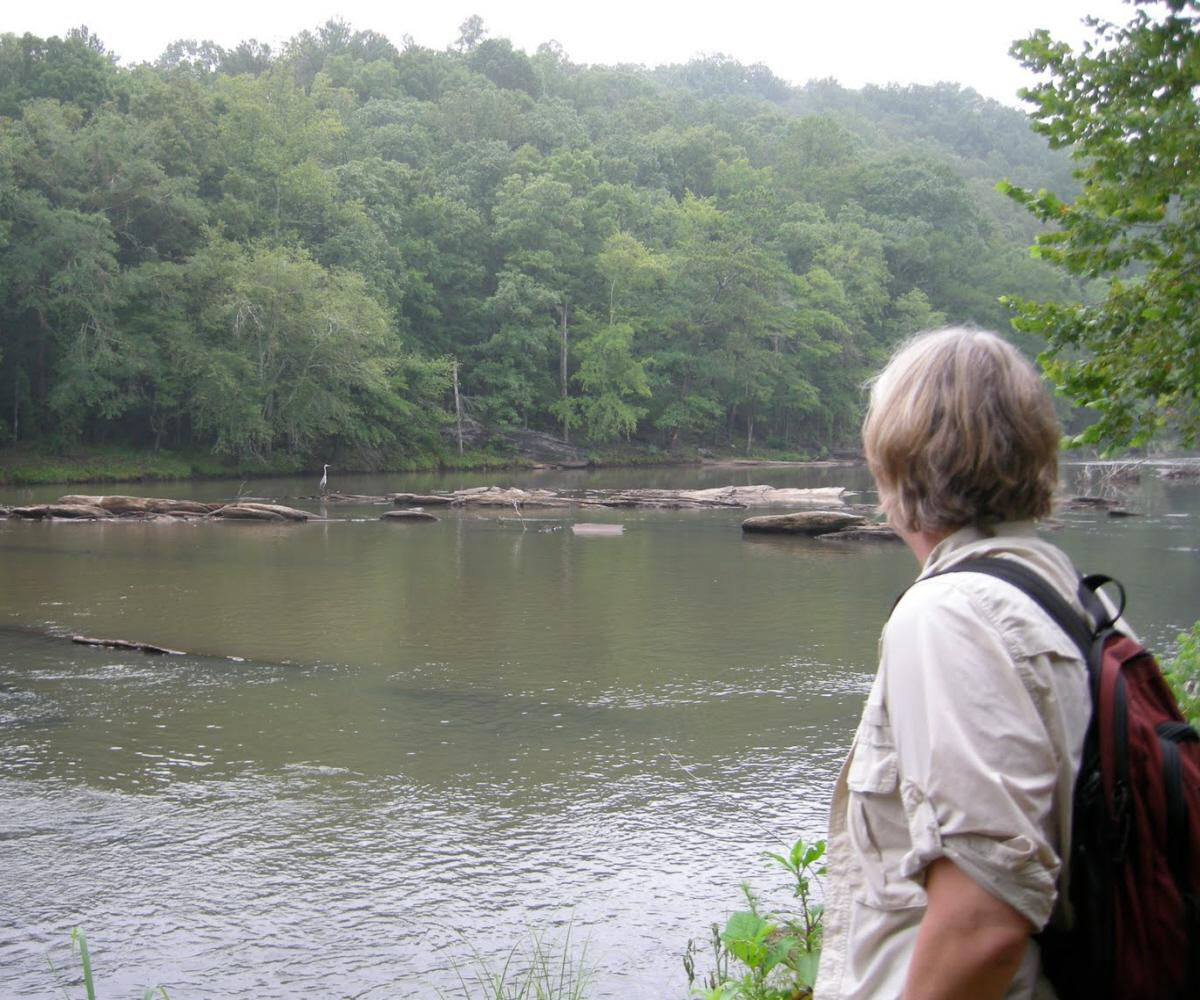 01 a woman at the riverbank