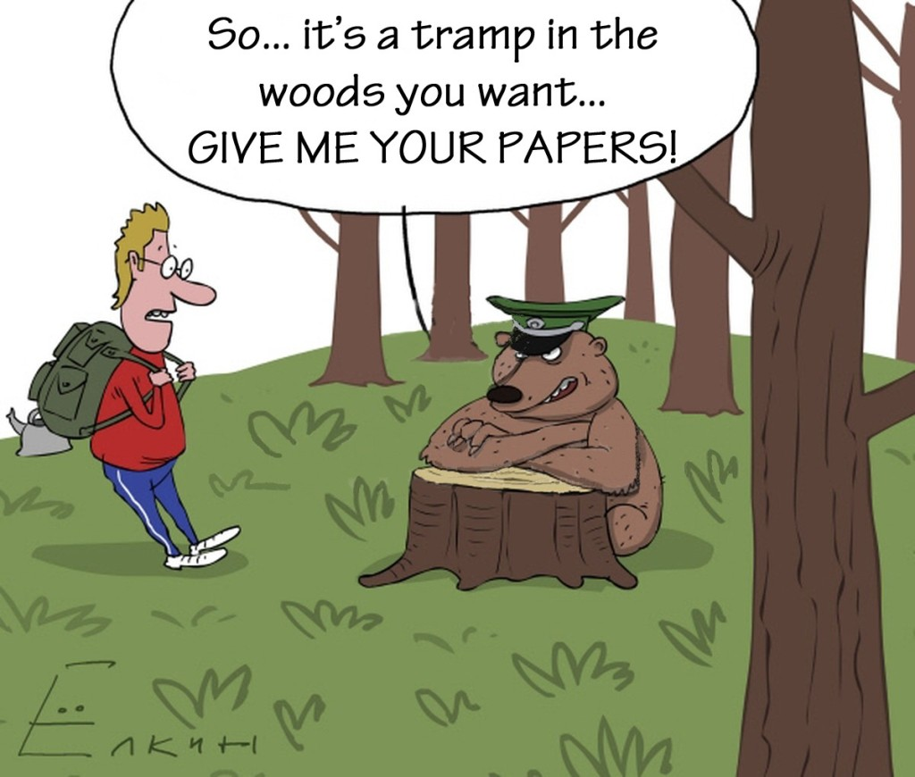 Sergei Yolkin. Show Your Papers for a Tramp in the Woods... 2011