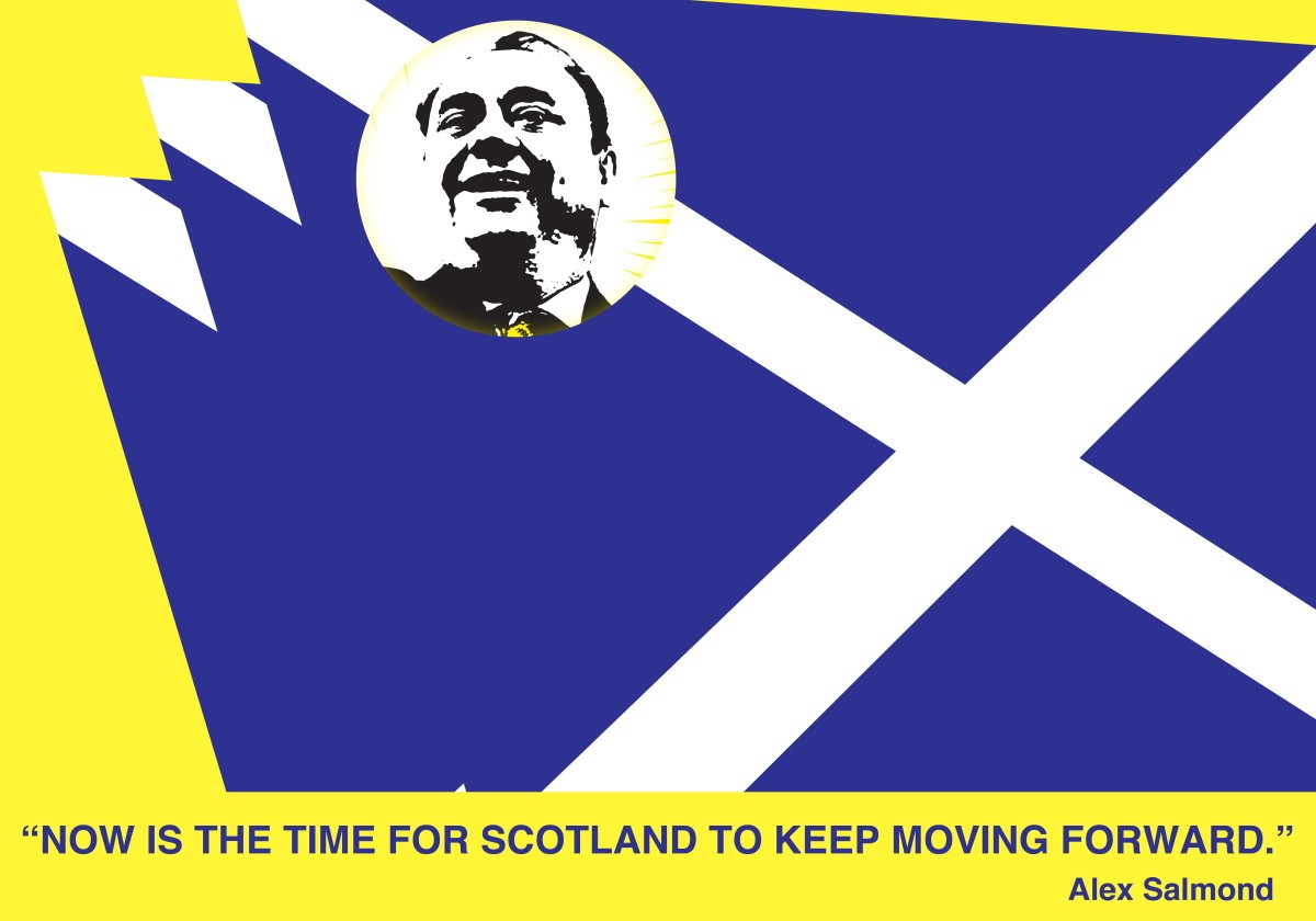 00 Scottish Flag Alex Salmond