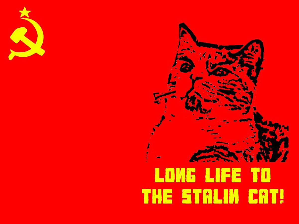 Unknown Artist. Long Life to the Stalin Cat! contemporary