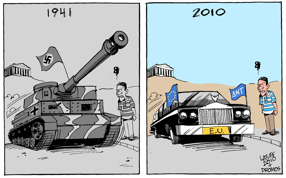 00 Carlos Latuff. Greece Under Occupation. 2010