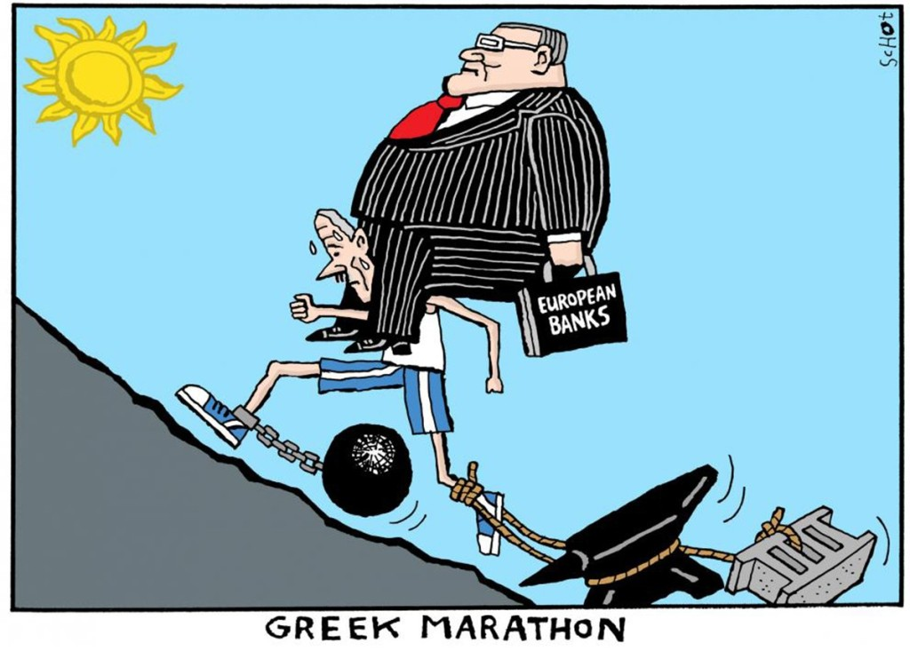 00 Greek Marathon. political cartoon. 05.12