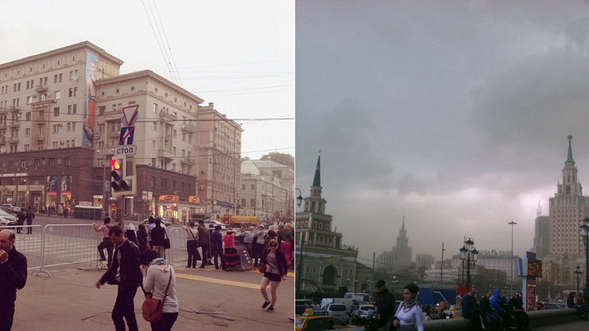 Does everyone know how they disperse the clouds over Moscow