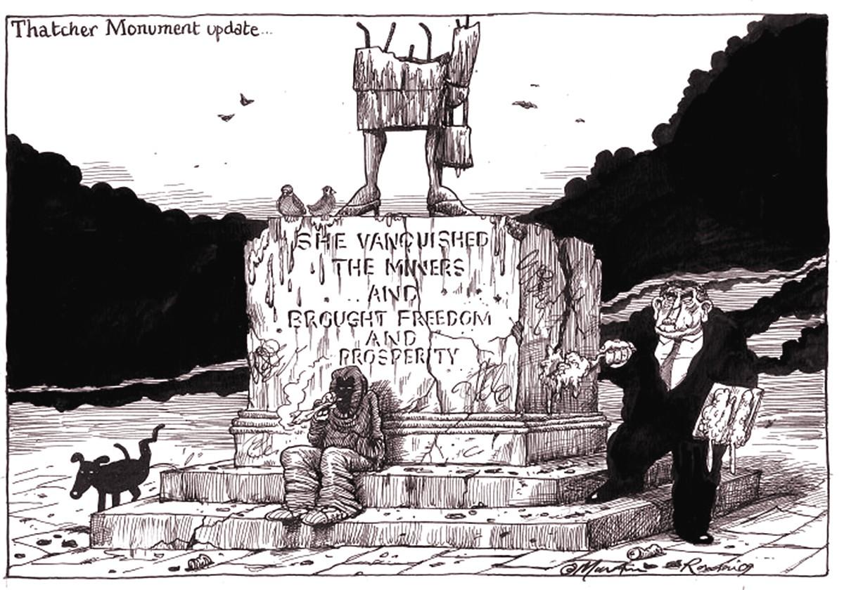 Margaret Thatcher and Gordon Brown, cartoon by Martin Rowson