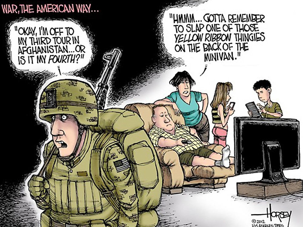 00 Political Cartoon. 05.12. American Way of War