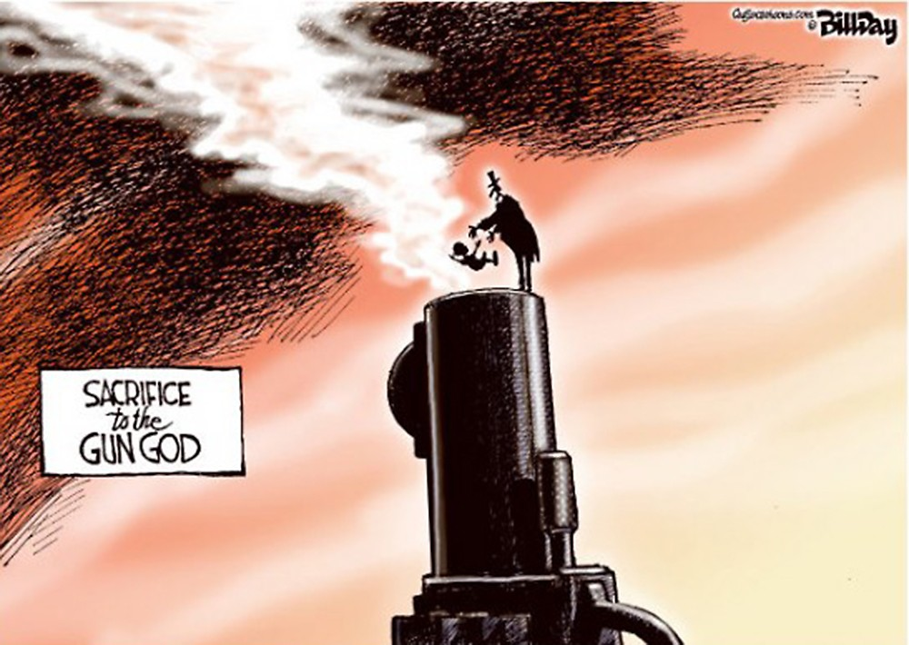 00 Political Cartoon. 05.12. Guns