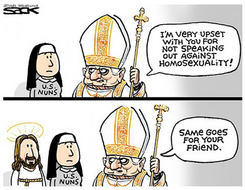 00 Political Cartoon. 05.12. The Pope Has the Final Say