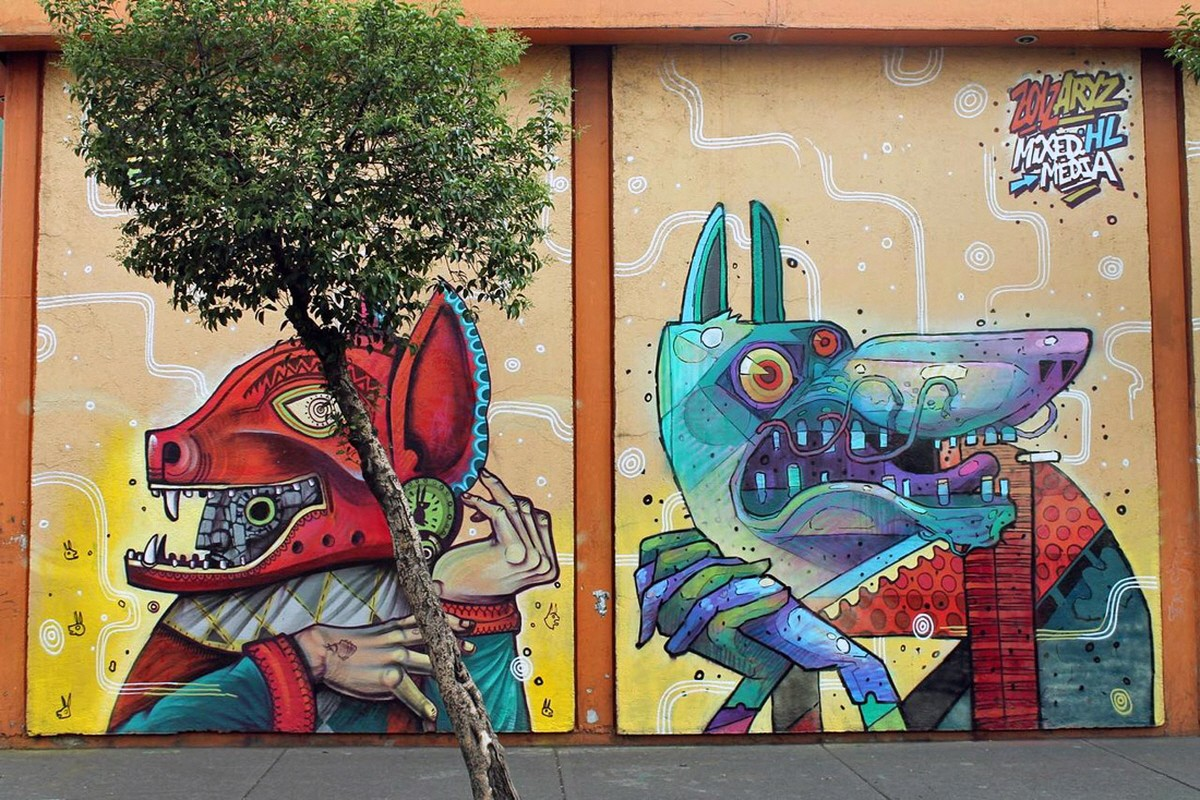 00b street art mexico city mx voices from russia for Arte mural en mexico