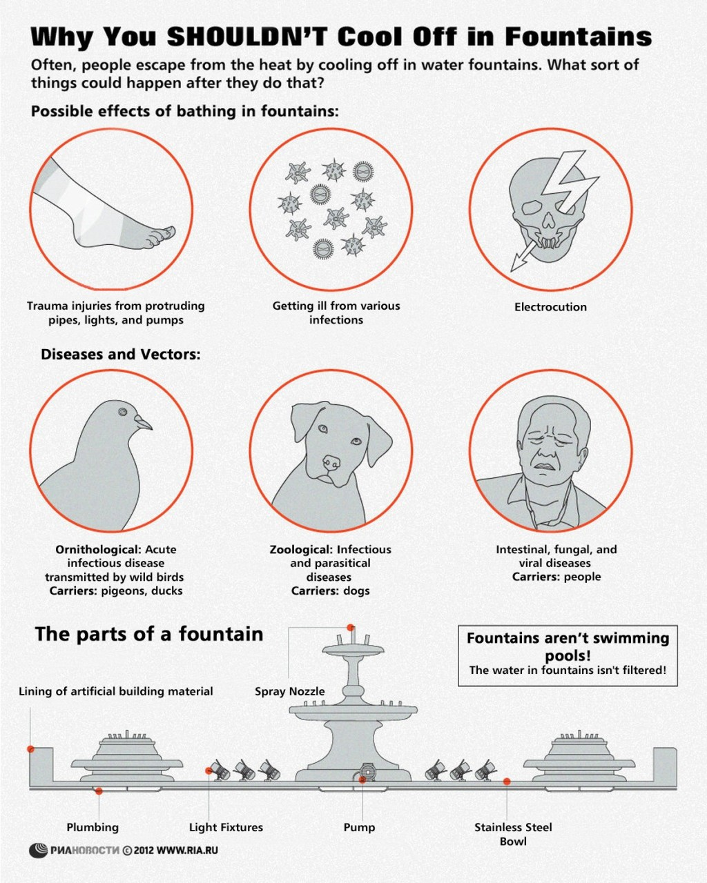 00 RIA-Novosti Infographics. Why You Shouldn't Cool Off in Fountains. 2012