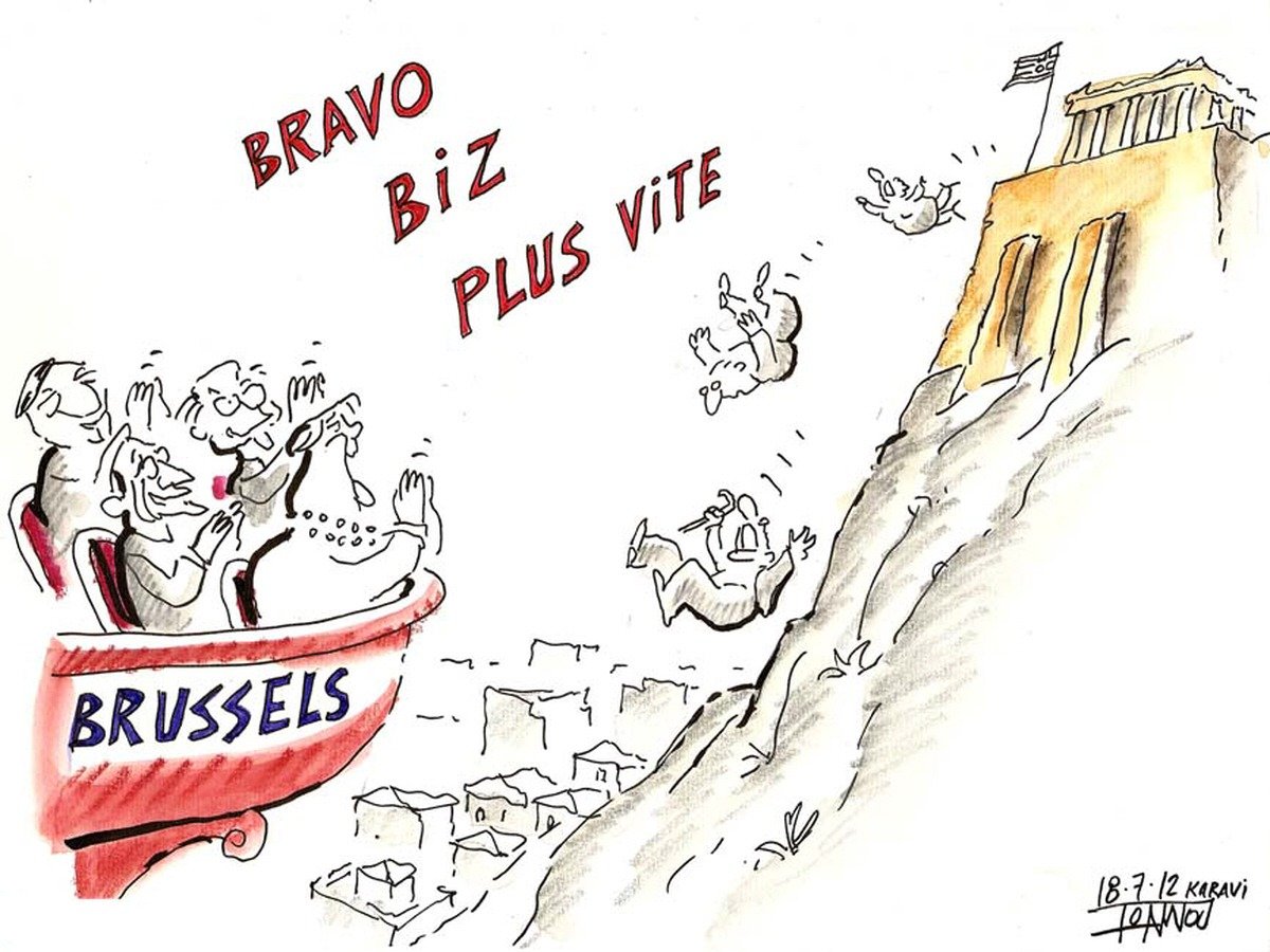00 Bravo Greek Crisis. 07.12. Political cartoon